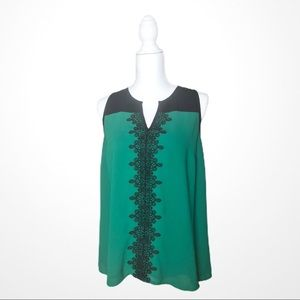 41 Hawthorn Emerald Sleeveless Blouse